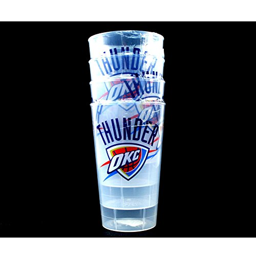 City Thunder Acrylic - Hunter Manufacturers NBA Oklahoma City Thunder 4-Pack 16oz Plastic Cups