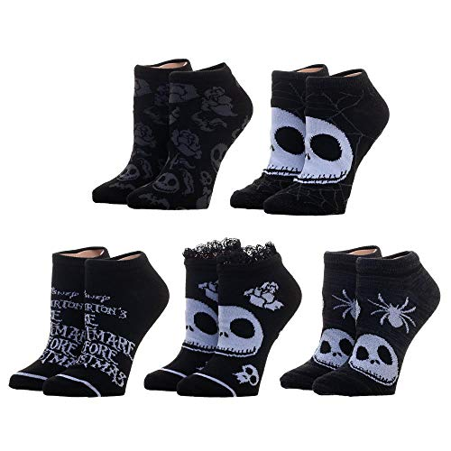 Nightmare Before Christmas Socks 5-Pack Nightmare Before Christmas Accessories Nightmare Before Christmas Gift - Nightmare Before CHristmas Ankle Socks Nightmare Before Christmas Apparel from Bioworld