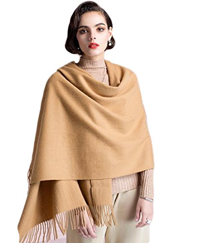 Supplim Cashmere Scarf Soft Wool Wraps Shawls Stole Winter Scaves for Men Women (Pashmina Style, Camel) by Supplim
