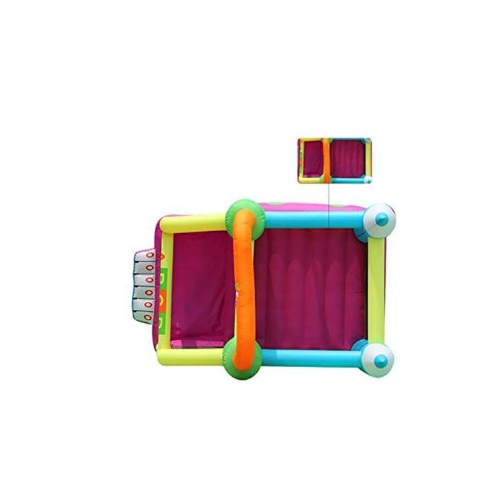 41XSX90RP2L ▲ No tardará mucho en inflar y poner en funcionamiento su casa de rebote; ¡También son relativamente fáciles de desinflar y plegar a un tamaño compacto para almacenarla cuando ya no la necesite! BONIFICACIÓN: el castillo inflable de rebote viene con un soplador. ▲ Tamaño del material: tela oxford ecológica, PVC; 350x225x220cm; el castillo hinchable, la bolsa de agua y el soplador están incluidos en el paquete. ▲ Perfecto para regalos de cumpleaños, regalos de Navidad o para mantener a los pequeños ocupados en verano; ¡The Bouncer hará las delicias de todos los niños!