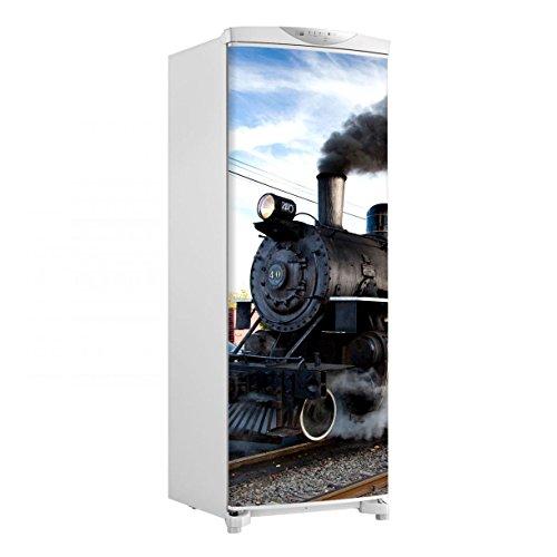Adesivo geladeira envelopamento porta Locomotiva - até 1,50x0,60 m