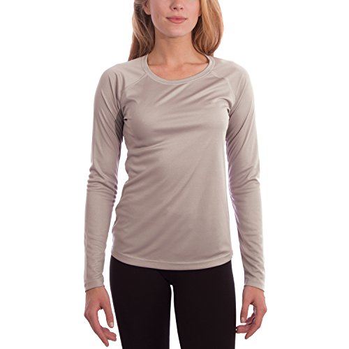 Vapor Apparel Women's UPF 50+ UV/Sun Protection Long Sleeve T-shirt Small Athletic Grey