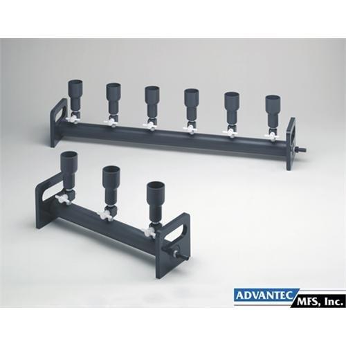6-Branch with 2-Way Valves Advantec 313600 Vacuum Filtration Manifold; PVC