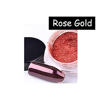 e42082de69 Amazon.com : MIOBLET 2g/Box Mirror Effect Nail Glitter Powder Shiny ...