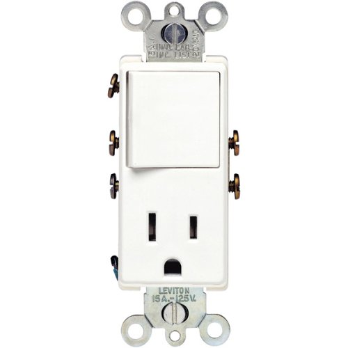 Leviton R12-5625-W Single-pole Switch/Receptacle