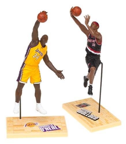 McFarlane Toys NBA 3 Inch Sports Picks Series 1 Mini Figures 2Pack Shaquille ONeal (Los Angeles Lakers) Rasheed Wallace (Portland Trailblazers) (Mcfarlane Mini Figures)