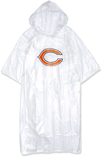 The Northwest Company Officially Licensed NFL Chicago Bears Lightweight Clear Poncho