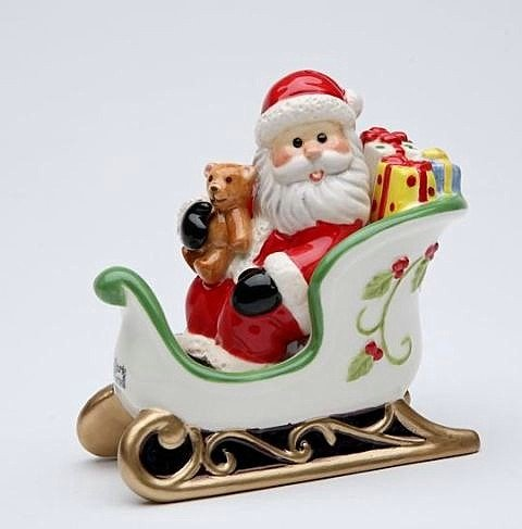 Cosmos Gifts 10661 Santa in Sleigh Salt and Pepper Set, ()