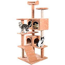 Cat Tree Cat Tower Condo Furniture Scratch Post Kitty Pet House Play Beige