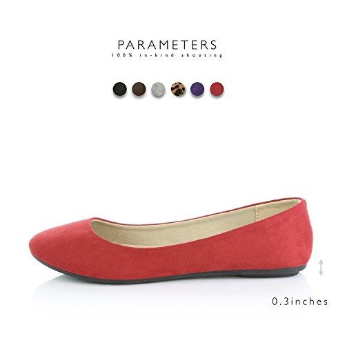 Dailyshoes Scarpe Classiche Da Donna Comoda Tomaia Piatta Tomaia Slip-on Sneaker-ideale Per Le Occasioni Casual In Morbida Pelle Scamosciata Rossa