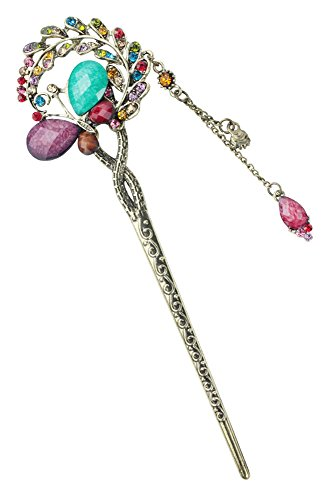 niceEshop Colorful Butterfly Flower Leaves Crystal Hair Clip Hair Pins