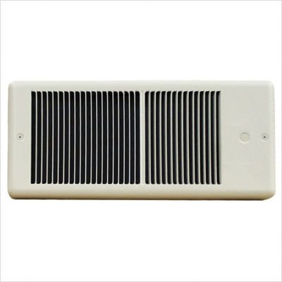 TPI HF4315RP Series 4300 Low Profile Fan Forced Wall Heater without Thermostat, Standard, Ivory, 1500/1125 W