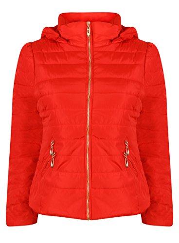 Veste À Manteau Capuche Rouge Casual New Femme Filles D'hiver Matelassée Pour 4wTASt