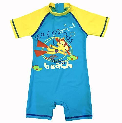 Hat Diver (Bonverano(TM Kids UPF 50+ Sun Protection S/S One Piece Zip Sun Suit (Diver, 6-9 Months))