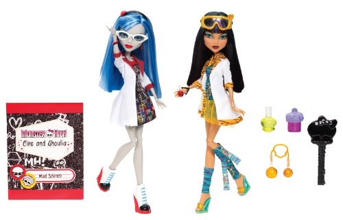 Monster High Ghoulia Yelps Costume (Monster High Mad Science Cleo De Nile & Ghoulia Yelps 2-Pack)
