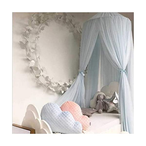 Bulawlly Letto a baldacchino per Letto Matrimoniale e Singolo, della Tenda Bianca Universale Dome zanzariera zanzara… 6 spesavip