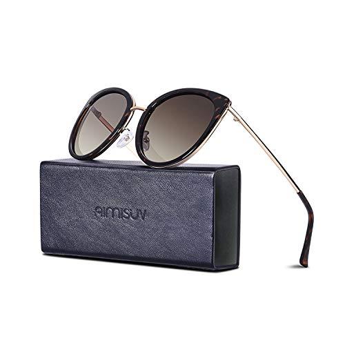 Polarized Cateye Sunglasses For Women - AIMISUV Vintage UV400 Protection Driving Sun Glasses