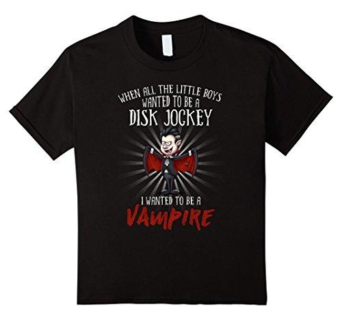 Kids Halloween Party Vampire Costume for Disk Jockey 4 Black