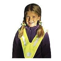 Tofern Outdoors Salzmann High Visibility (High Viz) Yellow V-Shape Reflective Vest for Children Between 3~12 Years Old, Simple Reflective Vest for Daily use