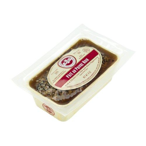 Black Peppercorn Pate | Pate au Poivre Noir by Les Trois Petits Cochons - 8 oz (Pack of 6)