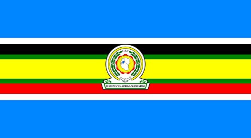 magFlags Large Flag East African Community | landscape flag | 1.35m² | 14.5sqft | 85x160cm | 35x60inch – 100% Made in Germany – long lasting outdoor flag