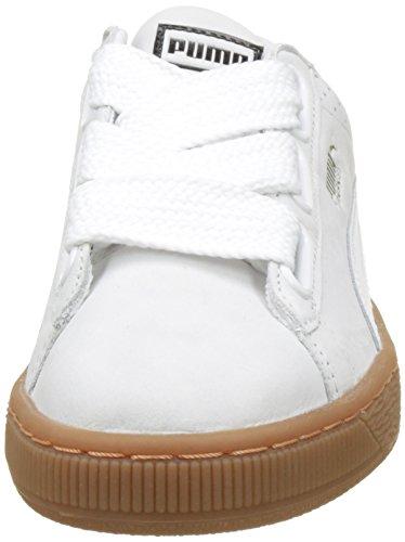 Basket Femme gold Puma Puma Basses White Perf Sneakers Heart Gum Blanc dWpORcqp