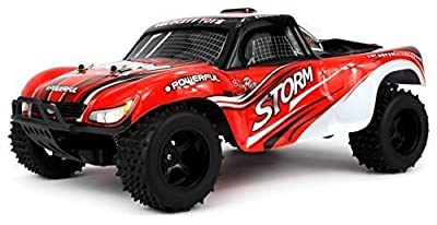Velocity Toys Off Road Storm Truggy Remote Control RC Truck, High Performance Lithium Battery, Big Size 1:10 Scale RTR w/ Working Spring Suspension
