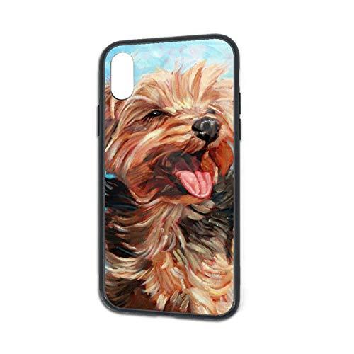 HengZhe iPhone Xs/X Case Dog Yorkshire Terrier TPU