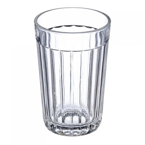 Russian Classic 20-facet Granyonyi Hot Tea Glass 8.5 Oz. fits Metal Holder Podstakannik, Vintage USSR Soviet Era Drinkware, Suitable for Hot & Cold Beverages, Break Resistant (1)