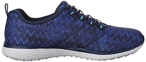 with Bungee Navy Up Lace Microburst Skechers Sport White Women's Fluctuate Mf Active qUOpBAw8