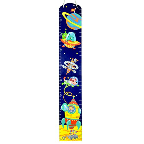 Hand Painted Wooden Growth Charts (Fantasy Fields Outer Space Hand Painted Kids Growth Chart)
