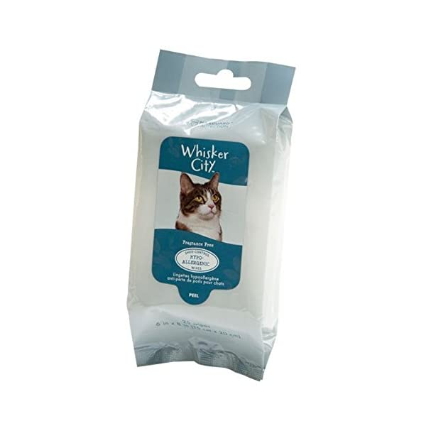 *Whisker City Hypoallergenic & Shed Control Cat Wipes-25 Count-1 Pack Click on image for further info.