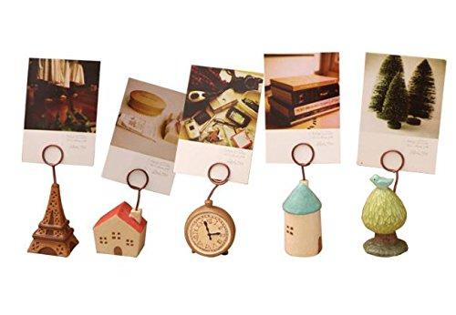 Set di 5memo clip titolari, sveglia da tavolo di supporto, Creative foto supporto, scrivania/tavolo decorazioni di Sunsang zhanlan