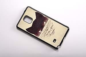 FBA 3 regalo de Navidad - case por Samsung Galaxy Note 4 The wolf negro funda
