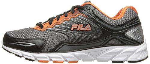 Image of the Fila Men's Memory Maranello 4 Running Shoe, Dark Silver/Black/Vibrant Orange, 10 M US