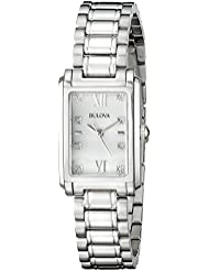 Bulova Women's 96P157 Analog Display Quartz Silver Watch