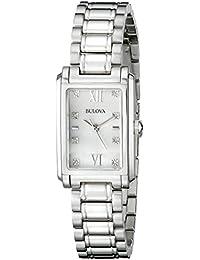 Womens 96P157 Analog Display Quartz Silver Watch