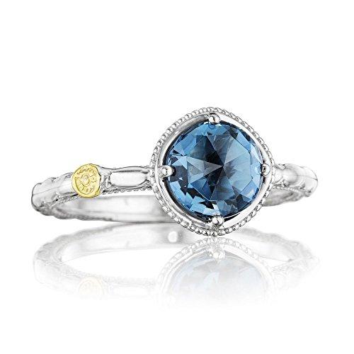 Tacori SR13433 Island Rains Sterling Silver London Blue Topaz Ring, Size 6 ()