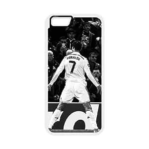 iPhone 6 6S 4.7 Inch funda Blanco [PC dura del caso + HD Pattern] Cristiano Ronaldo® Series [Numeración: JJJJDHKOD5199]