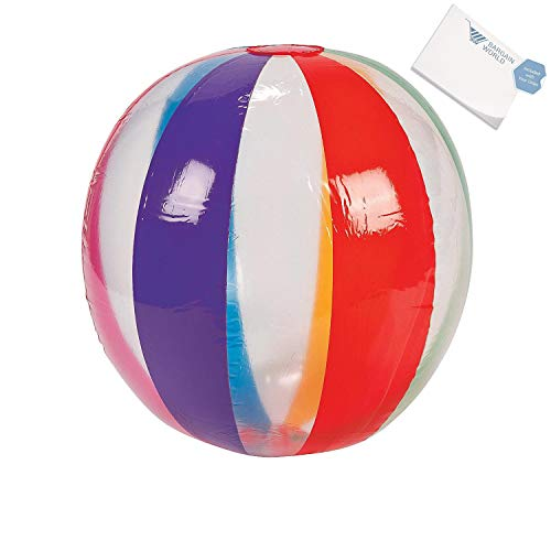 Iatable Large Rainbow Beach Balls (With Sticky Notes) by Bargain World (Image #2)