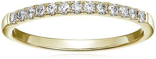 (Vir Jewels 1/5 cttw Pave Diamond Wedding Band in 14k Yellow Gold in Size 5.5)