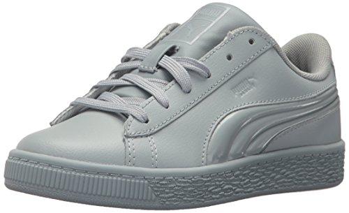 PUMA Baby Basket Classic 3D FS Kids Sneaker, Quarry-Quarry, 9 M US - Kids Quarry
