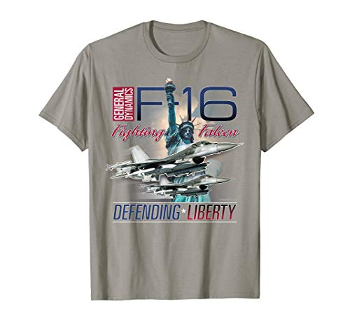 Aviation T's: F-16 Fighting Falcon Statue of Liberty T-Shirt