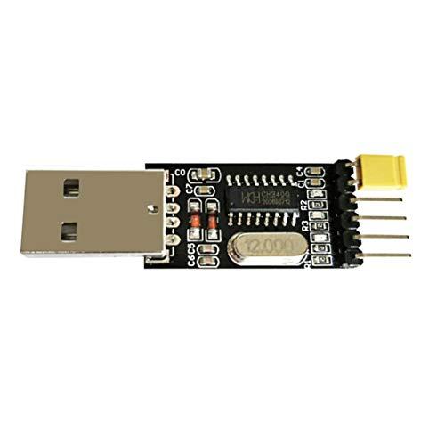 Portable USB to TTL Module CH340 Chip Black Module Serial Converter Module  5516mm Support for Windows for Vista - Black