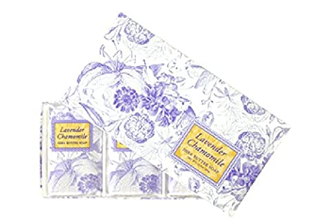 Greenwich Bay Trading Co. Shea Butter Soap, 12.9 Ounce, Lavender Chamomile, 3 (Bar Soap Gift Set)