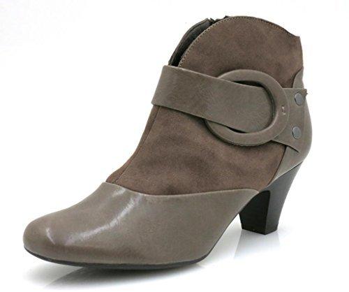 Marco Tozzi Bottines Finta En Cuir Cheville Chaussures Femme Stone 4023