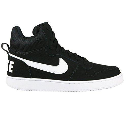 Nike Mädchen Wmns Court Borough Mid Sportschuhe-Basketball, Blanco (Blanco (Black/White)), 37.5 EU
