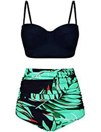 Women Vintage Swimsuits Bikinis Bathing Suits Retro High...