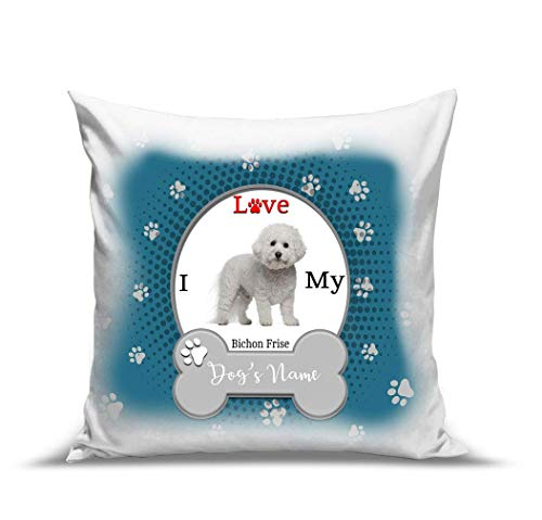 (BRGiftShop Personalize Your Own I Love My Dog Bichon Frise 15.75
