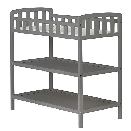 Dream On Me Emily Changing Table, Steel Grey (Diapering Essentials Kit)